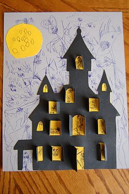 Haunted House Halloween Cut Out Haunted Houses House Drawing