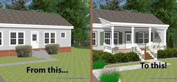 Ranch Home With And Without A Porch For The Home Pinterest