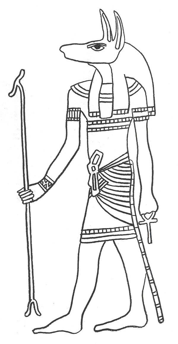 Disegno Di Anubis Da Colorare