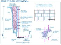Retaining wall by the stairs: perforated drain pipe ...