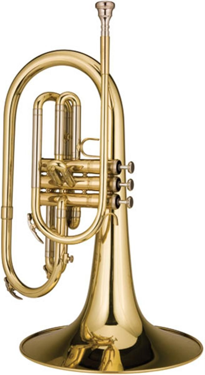 Mellophone a threevalved brass instrument in the key of