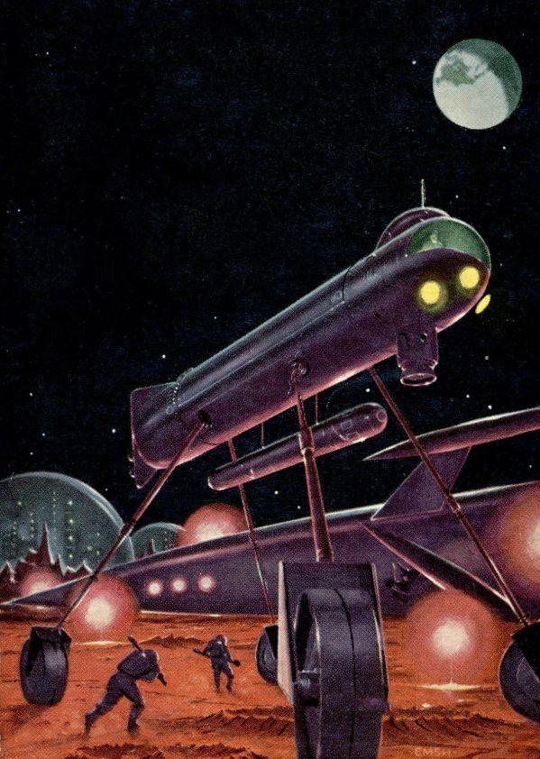 Retro Vintage Science Fiction Art