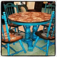 Refurbished, painted and distressed dining table ...