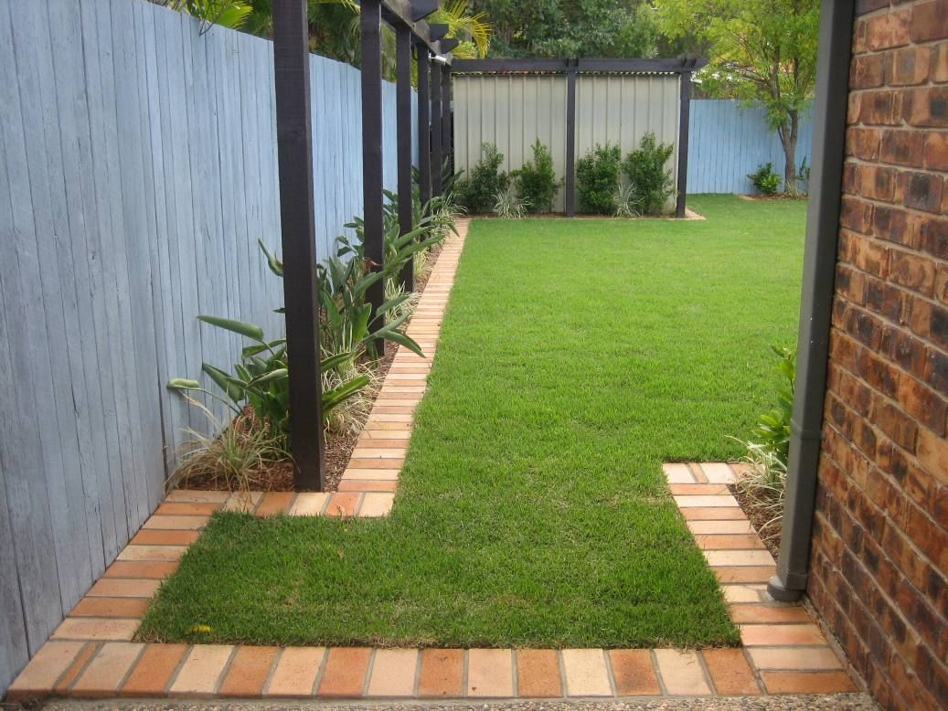 Brick Garden Edging Would Do The Whole Thing In Recycled Canberra