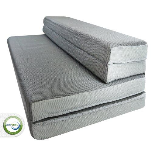 Lucid By Linenspa 4 Folding Foam Mattress Sofa Style Floor Chair Perfect For Camping Warranty