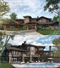 Plan 12943KN: 4 Bedroom Mountain Lodge House Plan | House ...