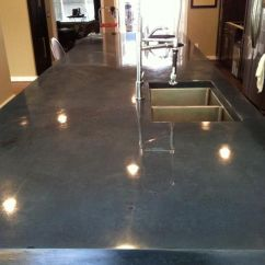 Long Kitchen Island With Seating Rolling Islands Polished Concrete Countertops On Pinterest | White ...