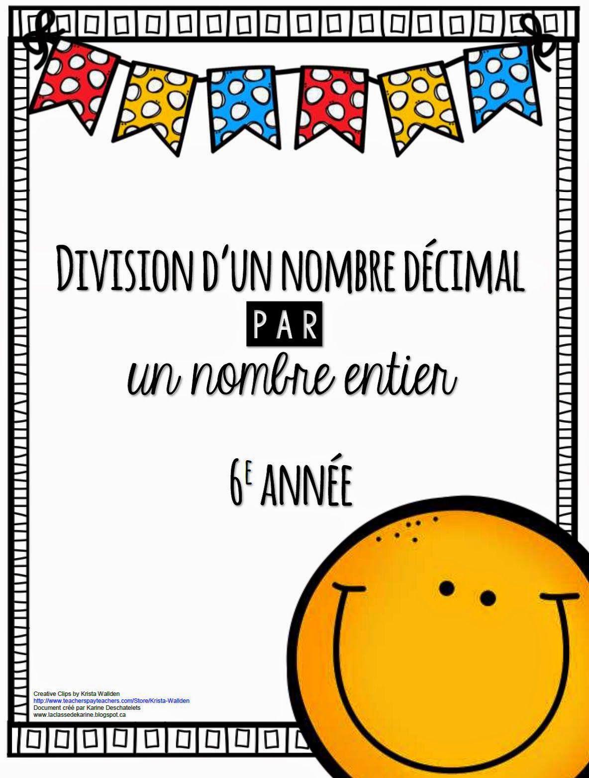 La Classe De Karine La Division D Un Nombre Decimal