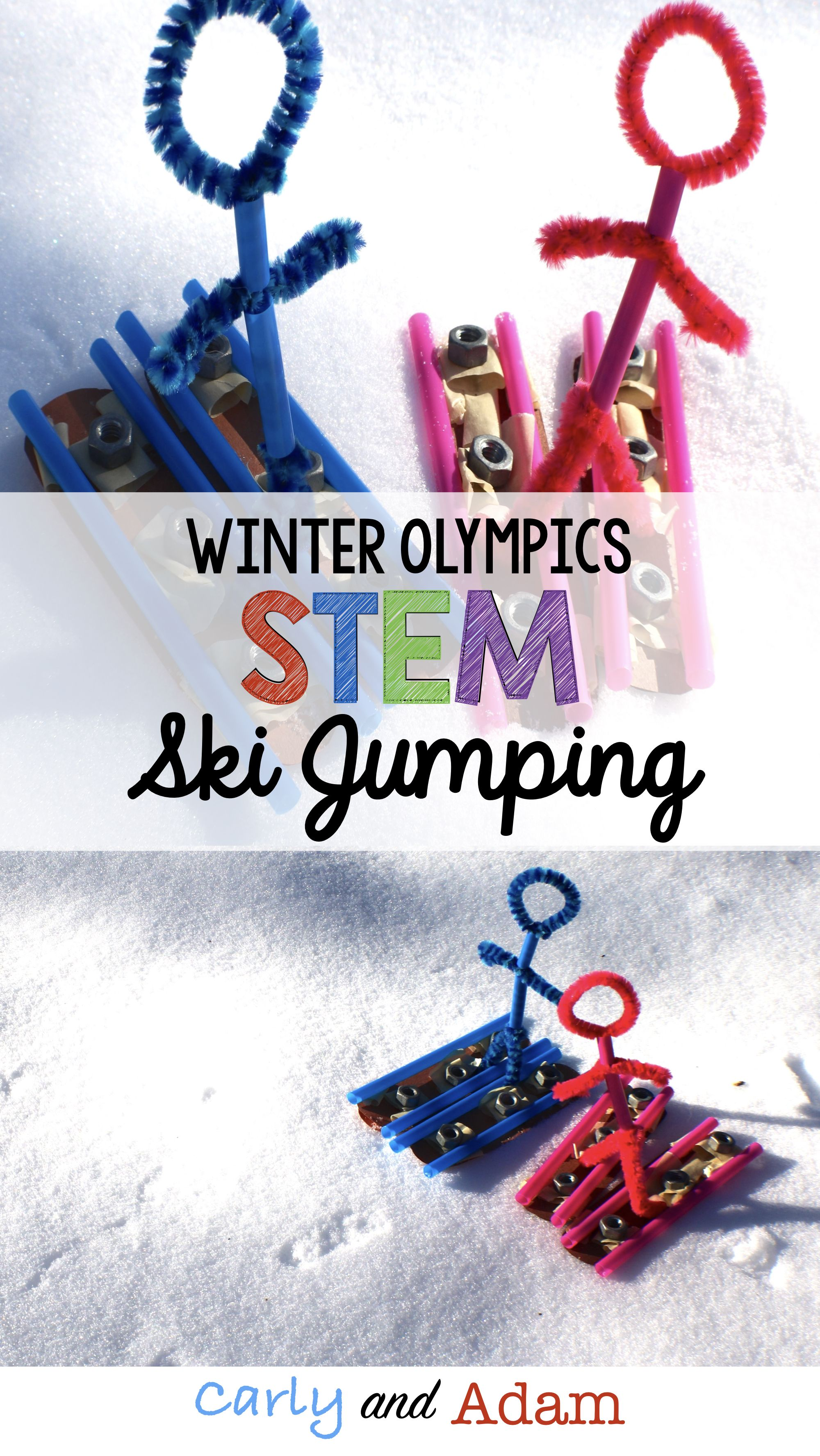 Winter Games Stem Activity Ski Jumping