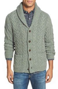 Polo Ralph Lauren Wool & Cashmere Cable Knit Shawl Collar ...