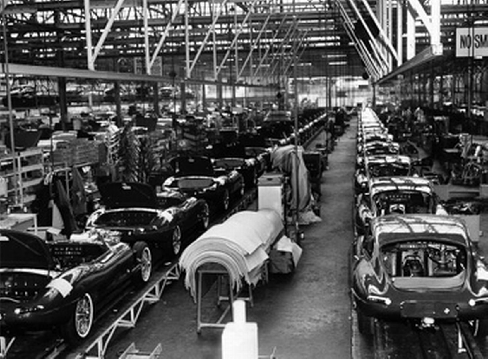 Inside the Jaguar factory in years gone by Jag Ees