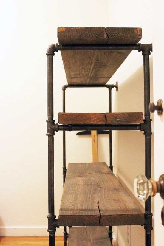 library chair ladder plans custom dining slipcovers galvanized pipe shelves on pinterest | pipe, and industrial