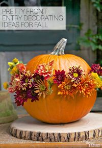 Pretty Front Entry Decorating Ideas for Fall | Front entry ...
