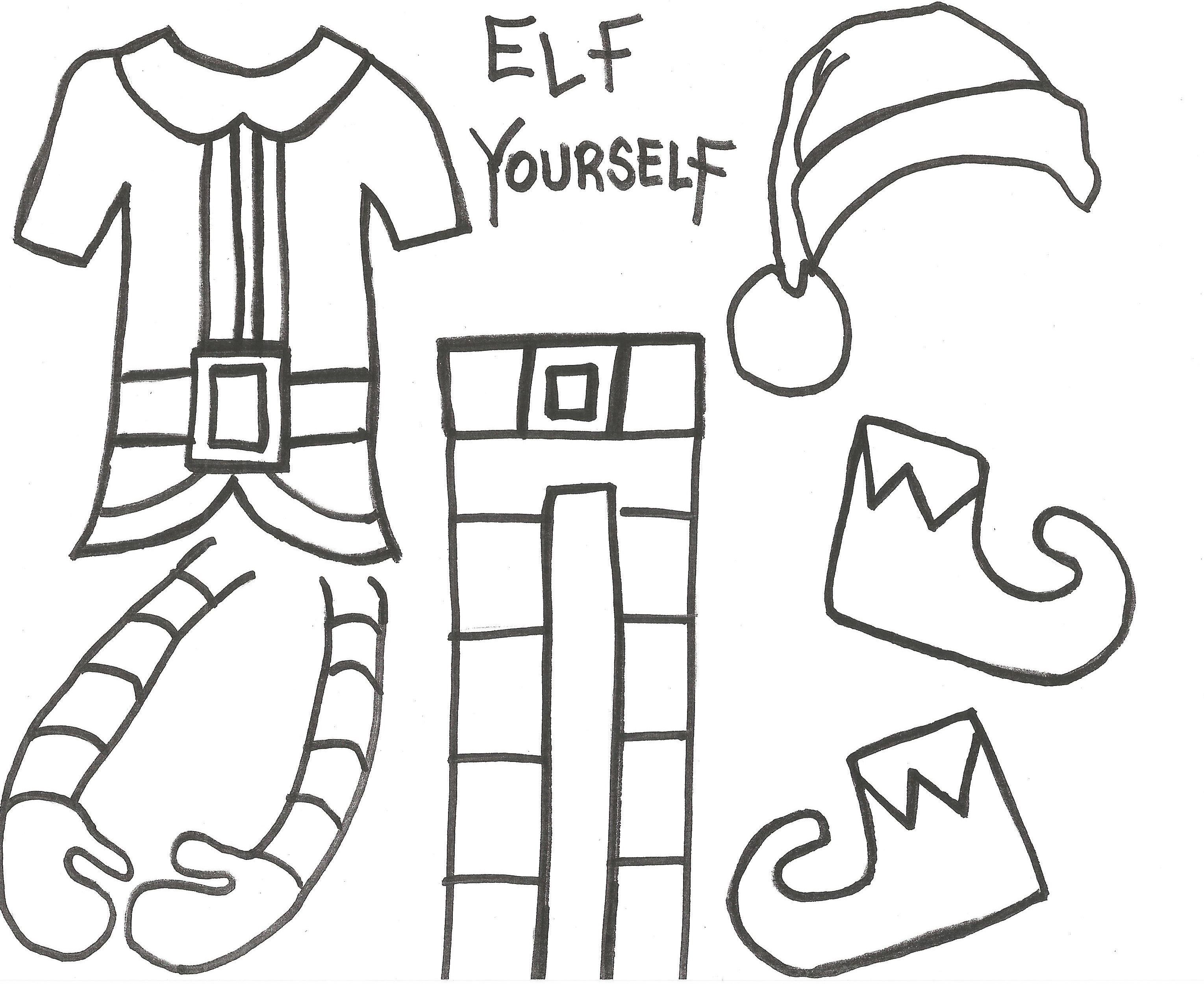 Elf Yourself Take Up Close Photos Of The Students Heads And Cut Them Out To Add To These Clothes