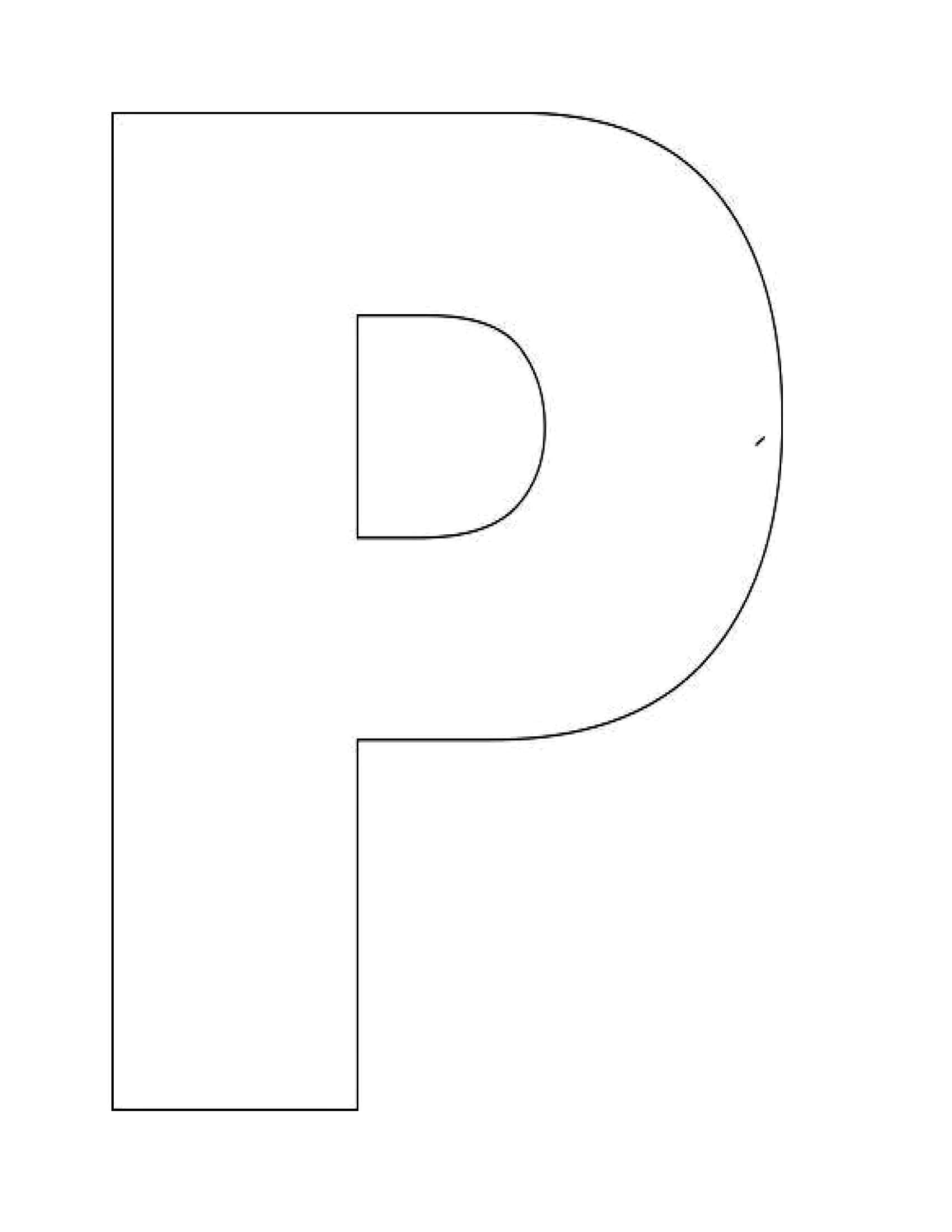 Image Detail For Alphabet Letter P Templates Are Perfect
