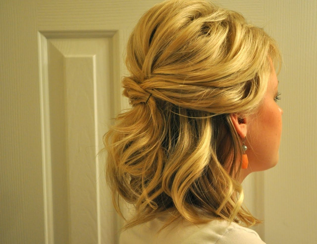Updos For Medium Hair Half Up Half Down Half Up Half Down