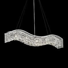 James R Moder Crystal Wave 36 Contemporary Chandelier