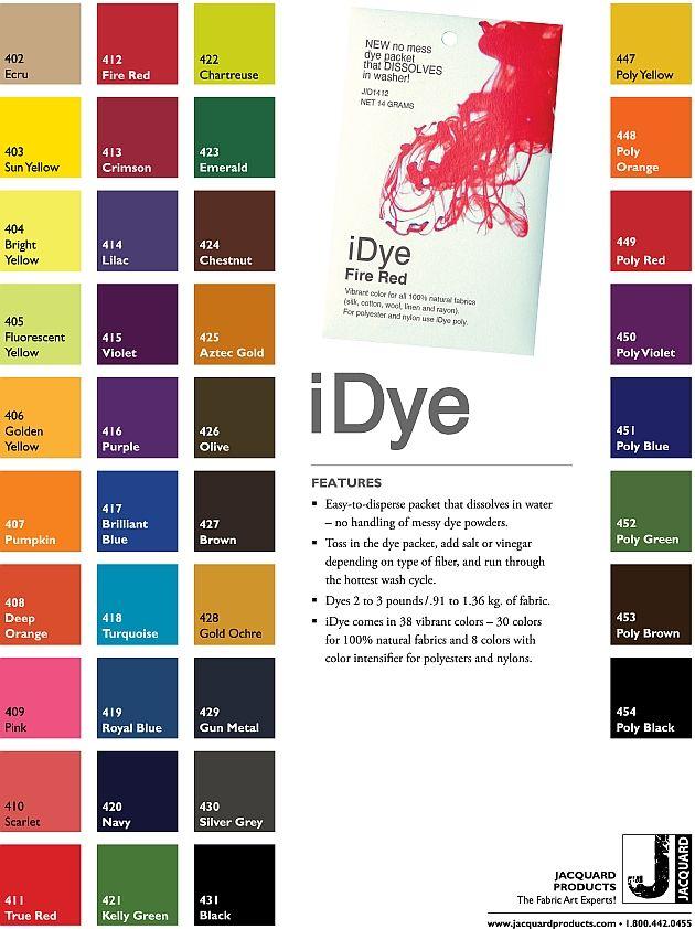 Mixing Rit Dye Color Chart