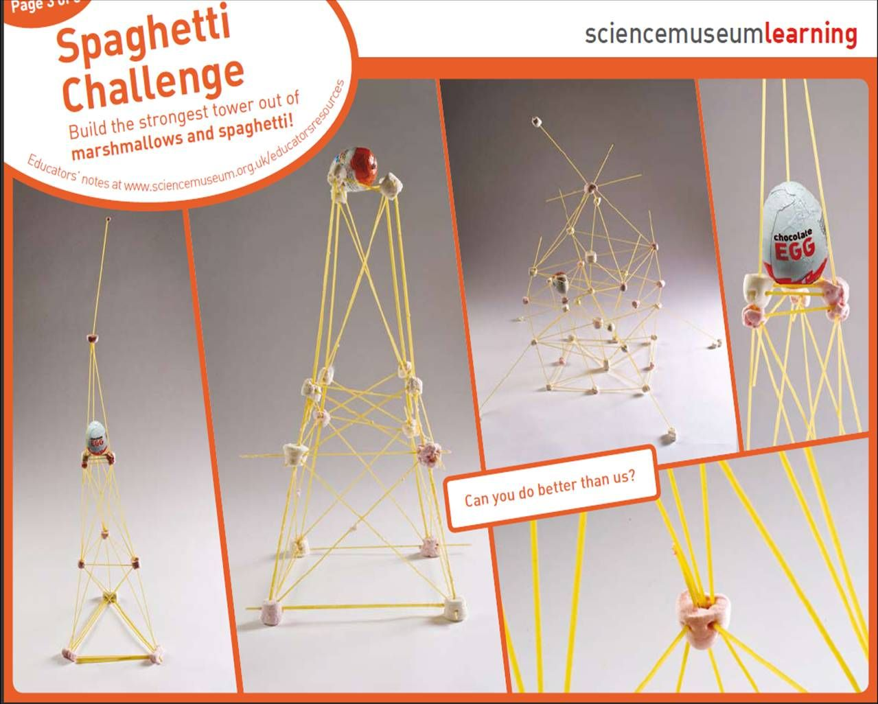 Spaghetti And Marshmallow Challenge E Task Is Simple