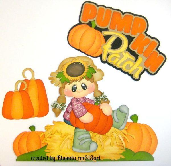 autumn fall pumpkin girl paper