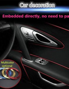 universal flexible interior decoration strips line diy fit for many cars click visit check also rh pinterest