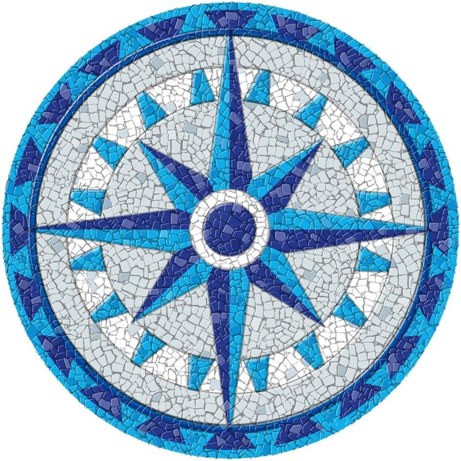 Completed Dragonfly Blue Mosaic Mandala Kit Created In