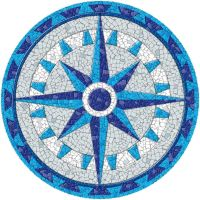 Completed Dragonfly Blue Mosaic Mandala Kit Created In ...