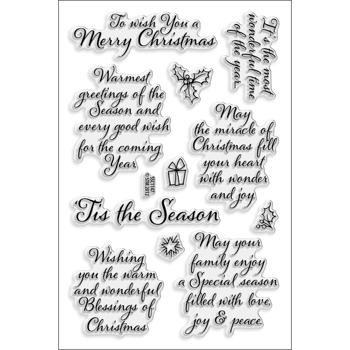 My Sentiments Exactly Clear Stamps 4 X6 Sheet