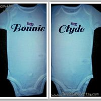 Funny Twin onesies Bodysuit or Shirt, Bonnie and Clyde ...