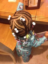 Mixed hairstyles Braids and barrettes | Hairstyles for ...