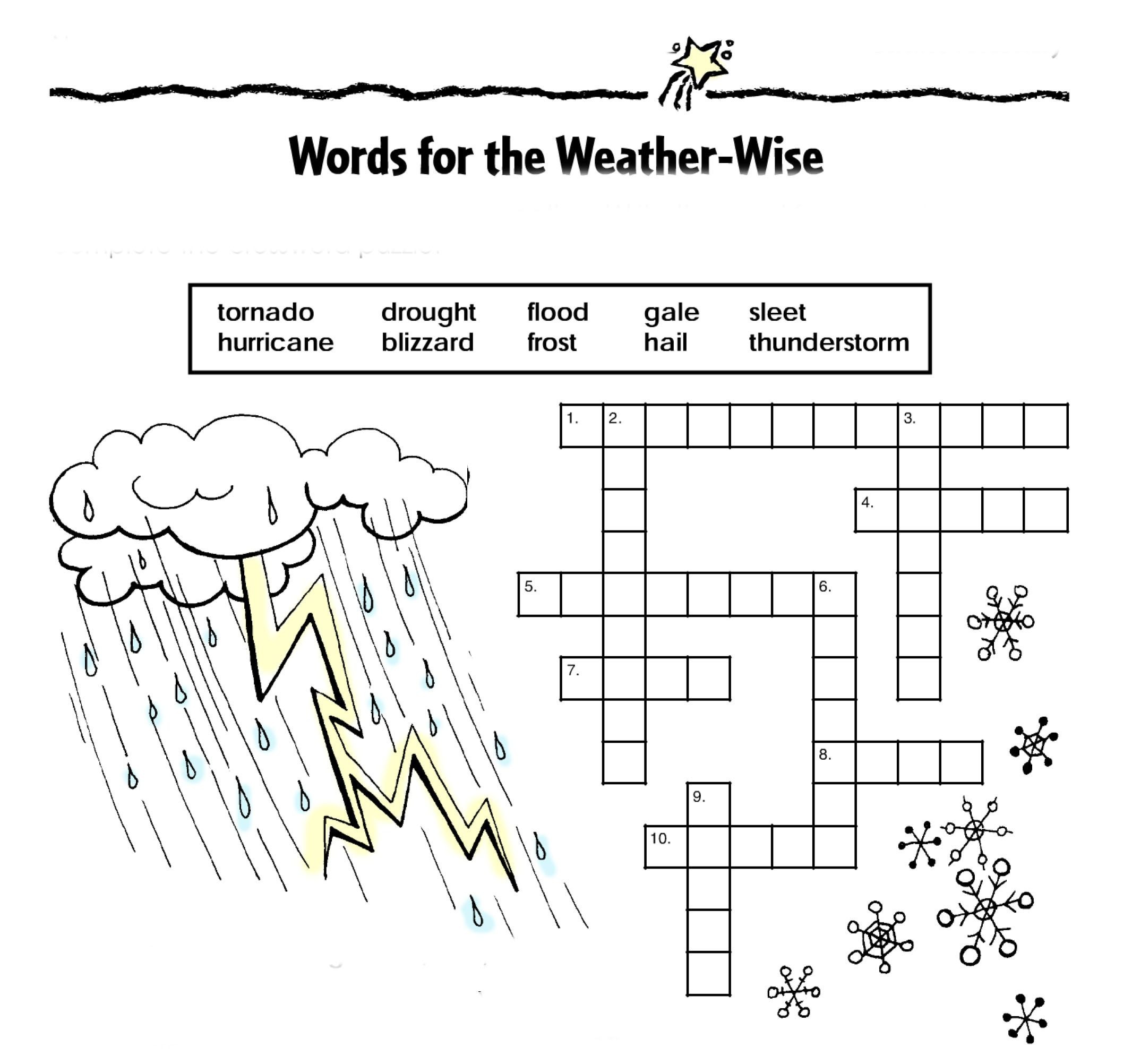 Words For The Weather Wise This Activity Will Reinforce Your Students Weather And Science