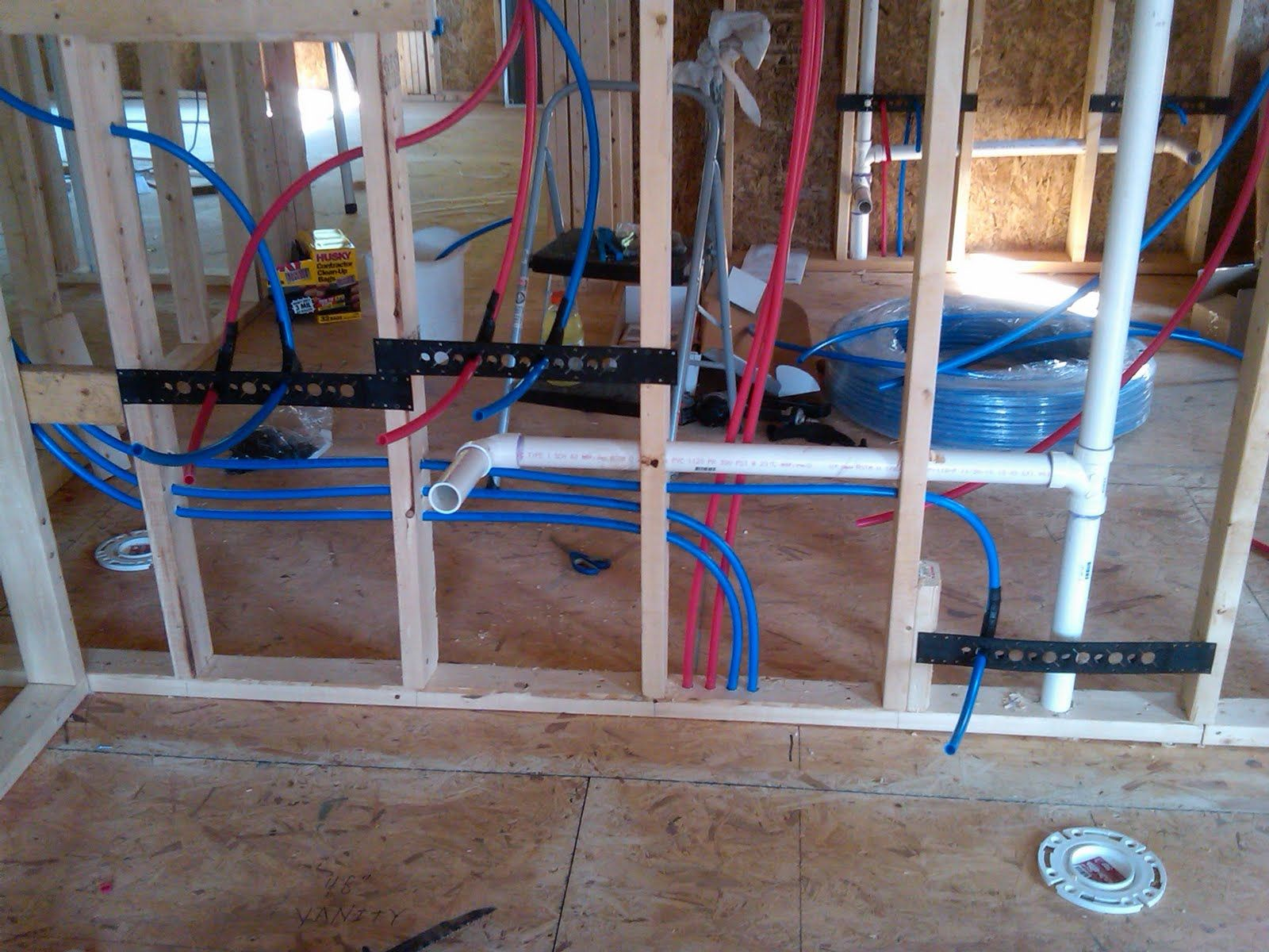 pex plumbing diagram lace sensor pickups wiring water lines install for toilet and sinks