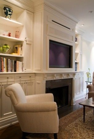 Traditional family room tv over fireplace design pictures remodel decor and ideas also den millwork  drawer would be awesome inspiration pinterest rh