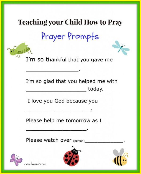 """teaching Little Pray - Prayer Prompts"