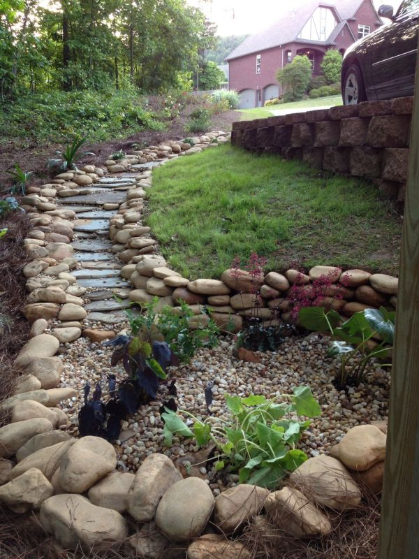 super easy dry creek landscaping