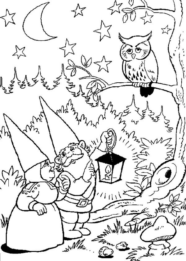 Free Adult Coloring Pages To Print Gnome