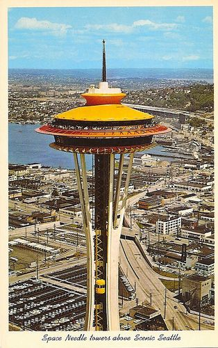Space Needle With Original Colors.