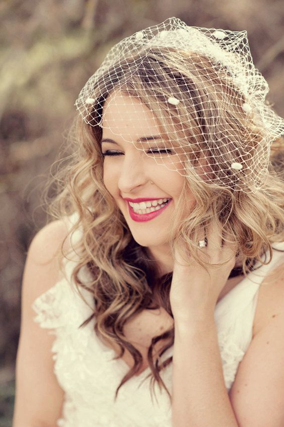 20 Wedding Hairstyles With Birdcage Ideas Wedding! Christmas