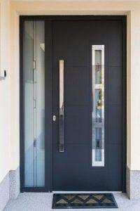 Modern Black Front Door Ideas | Black door, Black front ...