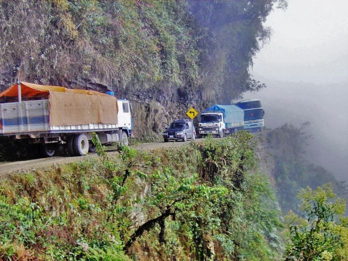 Resultado de imagen para CARRETERA YUNGAS, BOLIVIA