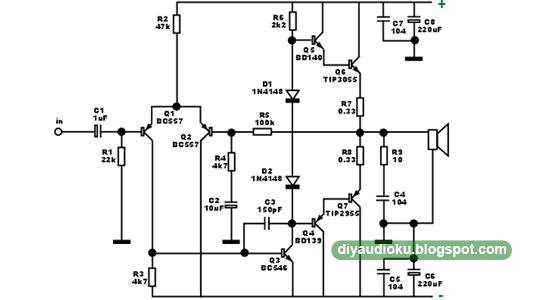 schematic photo rangkaian-ocl-power-amplifier-tip2955