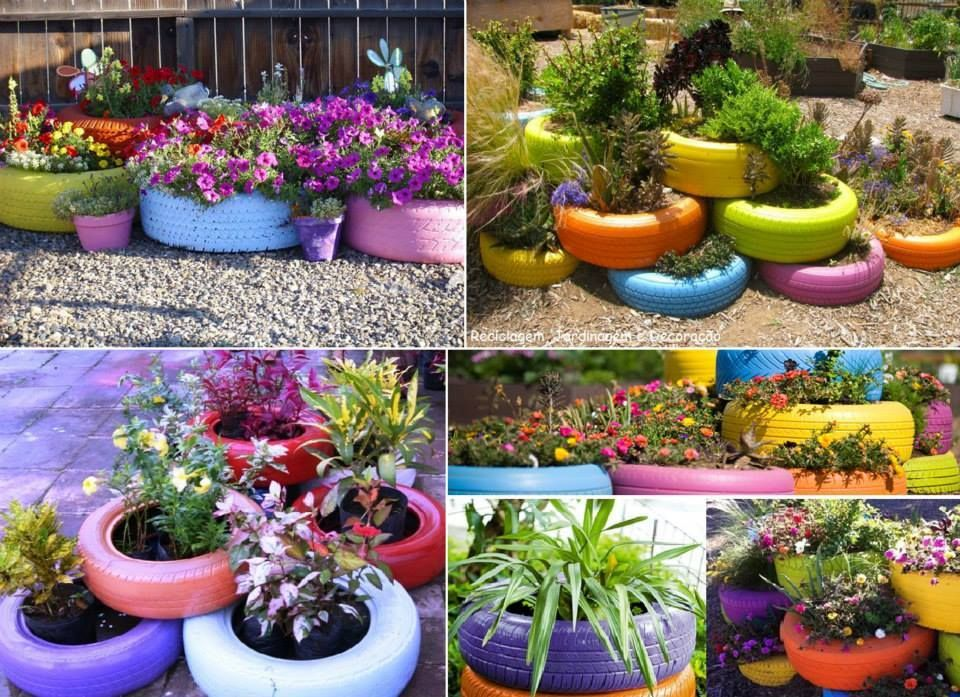 Recycled Tire Ideas Gardens Spring And Yards