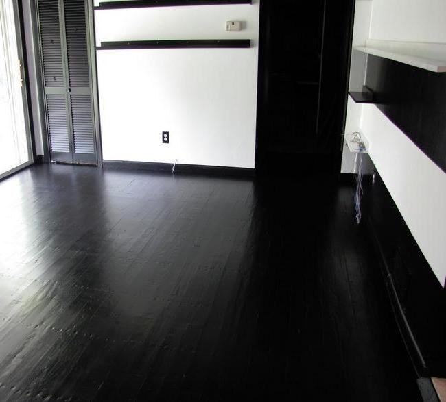 Concrete floor paint black