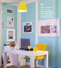 blue and yellow office space | blue and green. | Pinterest ...
