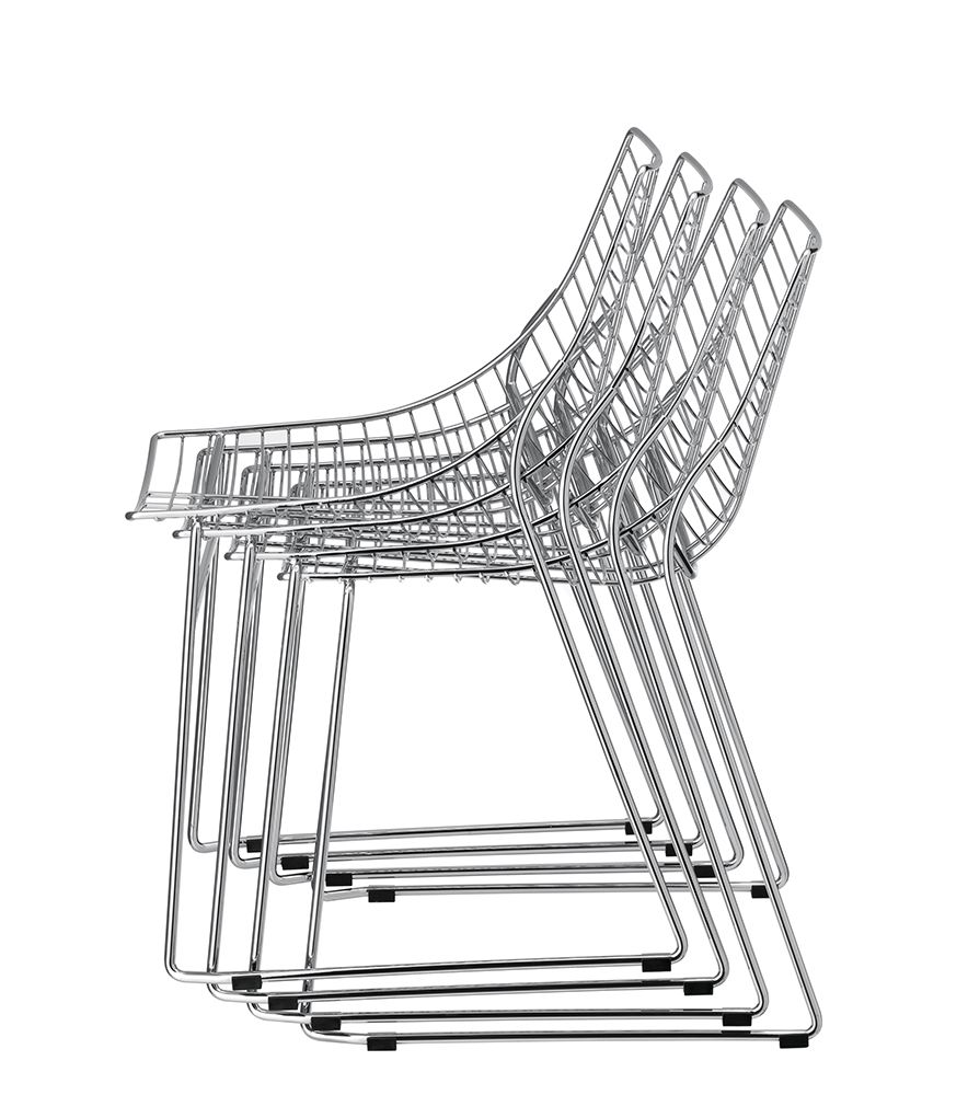steel net chair upholstered dining chairs set of 4 collection available at sandler seating stackable side on sled