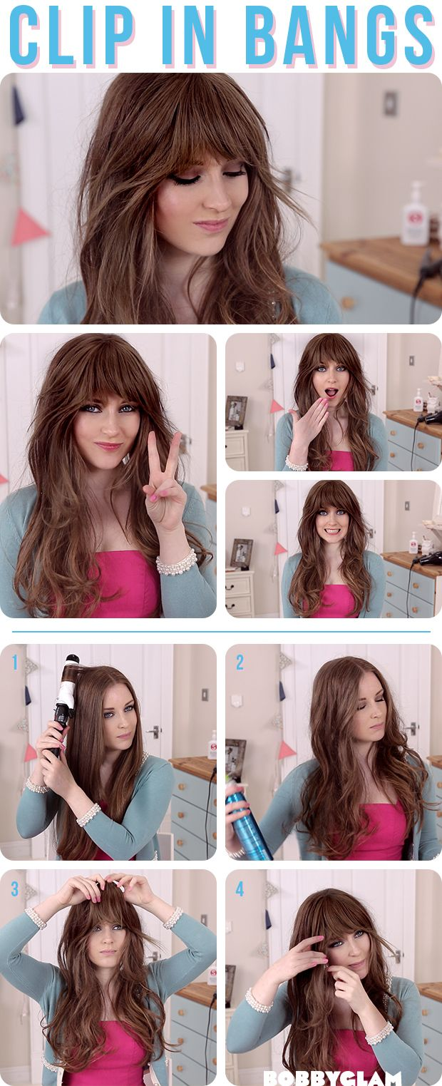 How To Get A Look With Bangs Without Cutting Your Hair Zooey