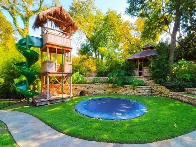 Backyard Landscaping Ideas For Kids With Small Pool Gardens