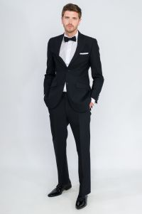 Bow Tie And Black Suit - Go Suits