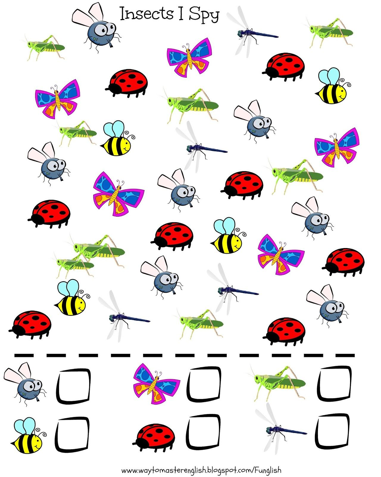 Insects Vocabulary Animals I Spy Kids Young Learners
