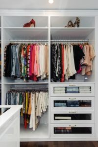 Walk In Closet with Glass Front Dresser Drawers | Master ...